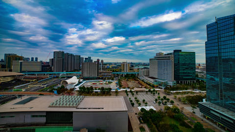 A timelapse of cityscape at the urban street in Tokyo daytime high angle wide Archivo