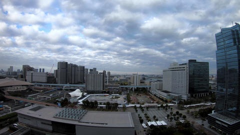 A timelapse of cityscape at the urban street in Tokyo daytime high angle wide GIF