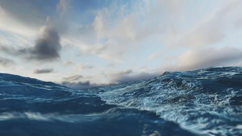 Rough Sea Loop 3D 4k Videos animados