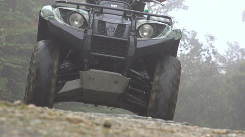 Man Driving ATV at Dusk Footage