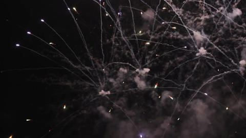 Fireworks, holiday celebration background with sound Footage