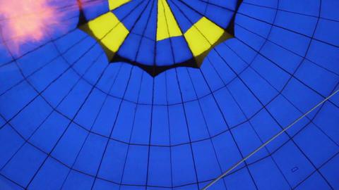Balloon air gas heating, shot inside during flight Footage