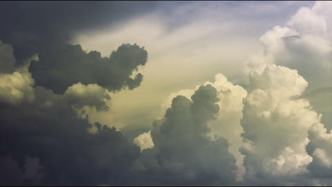 Rainy clouds waving close-up time-lapse, storm approaching. Danger sky feeling Footage