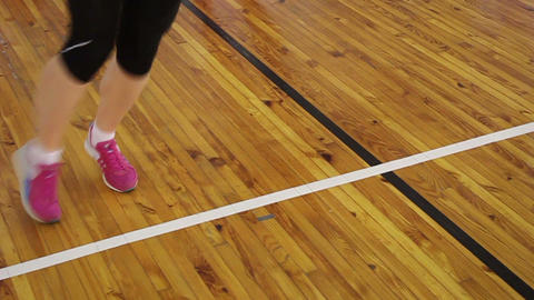 Skipping rope exercise in gym Footage