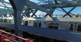 Chasing a Manhattan Subway on the Williamsburg Bridge Footage