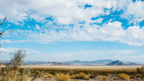 Time Lapse - Wide Angle Cloudscape in Desert Footage