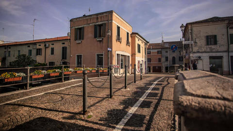View of the historic center of Lendinara, a small Italian village #2 Footage