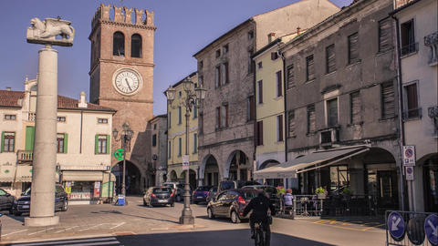 View of the historic center of Lendinara, a small Italian village #4 Footage
