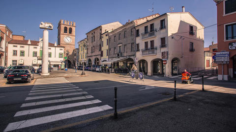 View of the historic center of Lendinara, a small Italian village #6 Footage