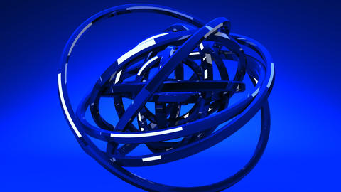 Loop Able Blue Circle Abstract On Blue Background CG動画
