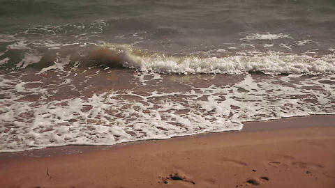 Shoreline waves during summer day Footage