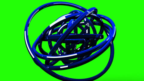 Loop Able Blue Circle Abstract On Green Chroma Key CG動画