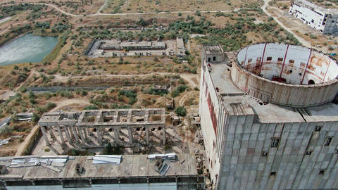 the construction of an abandoned complex of buildings of the nuclear power plant Archivo