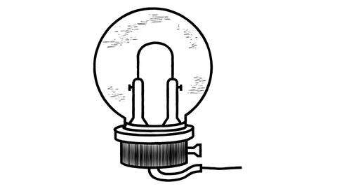 Animated drawing of a lamp in the style of Leonardo da Vinci Videos animados