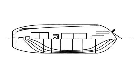An animated drawing of a boat in the style of Leonardo da Vinci Animation