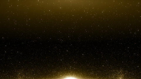 Particles gold bokeh glitter awards dust abstract background loop CG動画