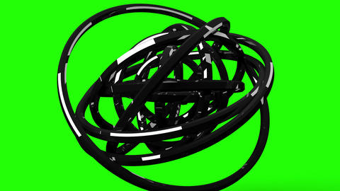 Loop Able Circle Abstract On Green Chroma Key CG動画