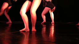 Legs of dancers spinning and jumping Footage