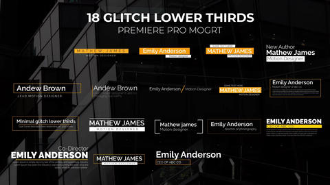 Glitch Lower Thirds Motion Graphics Template