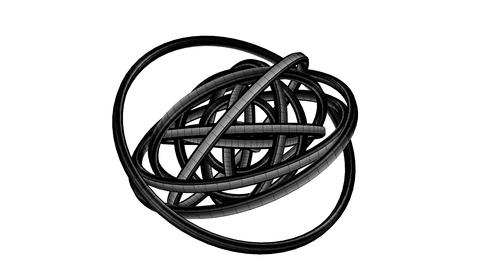 Black Wire Frame Circle Abstract On White Background CG動画