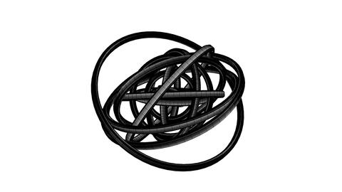 Loopable Black Wire Frame Circle Abstract On White Background Animation
