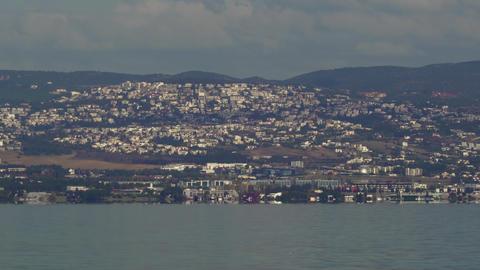 Thessaloniki, Greece landscape coastal view of Panorama suburb area east GIF
