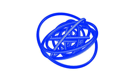 Loopable Blue Wire Frame Circle Abstract On White Background Animation