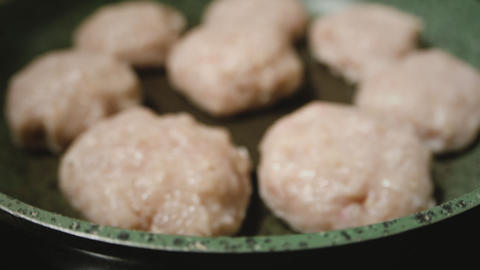 Cutlets fried in a pan GIF