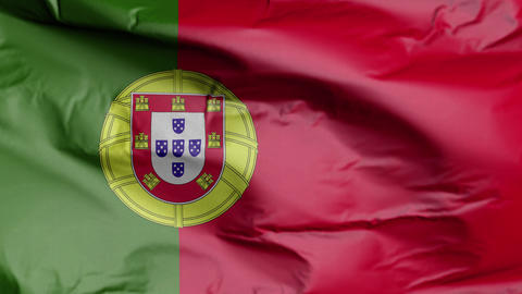 Flag of Portugal Realistic 3D Footage