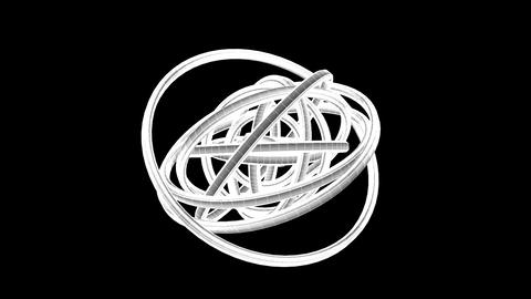 Loopable White Wire Frame Circle Abstract On Black... Stock Video Footage