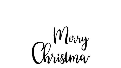 merry christmas logo, designed in chalkboard drawing style, animated footage GIF