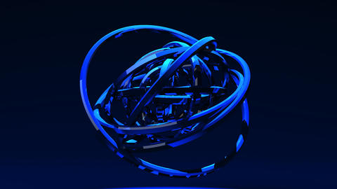 Spotlighted Blue Circle Abstract On Blue Background Animation