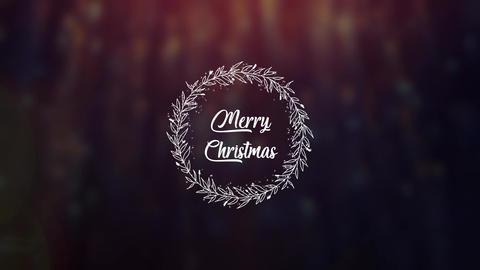 Christmas Wreath モーショングラフィックステンプレート