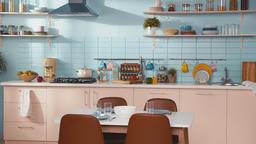 Luxury kitchen interior, no people GIF