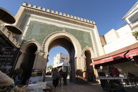 Medina vendors in Fes Photo
