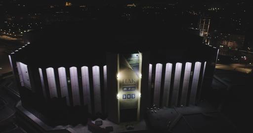 Sofia Bulgaria -14 10 2019: Night footage of National Palace Of Culture in Sofia GIF
