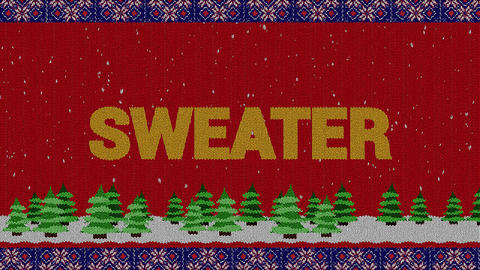 Knitted Sweater Logo Premiere Pro Template