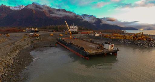 Barge haul out Fotografía