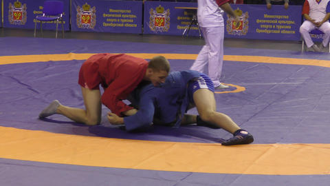 Orenburg, Russia - October 25-26, 2019: Boys competitions Sambo Live Action