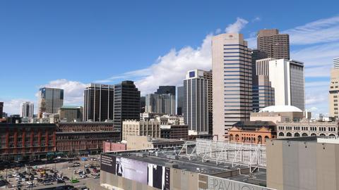 Denver Skyline Wide Shot Unique Angle GIF