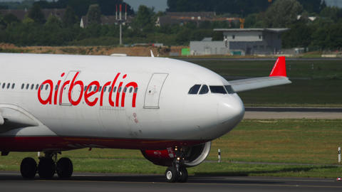 Airberlin Airbus 330 taxiing GIF