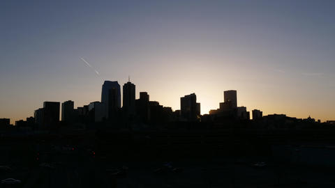 Denver Colorado Sunrise Timelapse Zoom In Footage