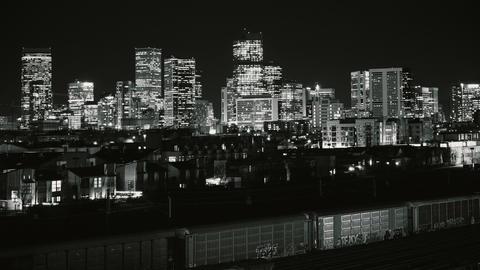 Denver City Lights Timelapse High Contrast BW GIF