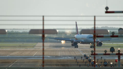Airplane taxiing after landing GIF