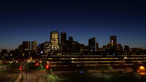 Denver Night to Day Long Time Lapse GIF