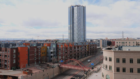 The Confluence Denver Building in Downtown Footage