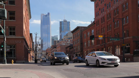 Traffic on 15th Street in Denver Colorado GIF