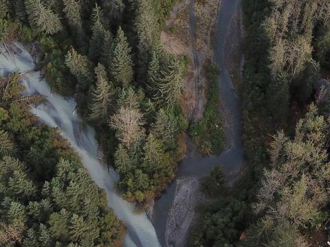 Wild river in Alaska Photo