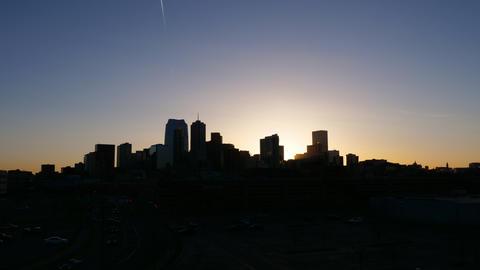Colorful Denver Skyline Sunrise Timelapse Footage