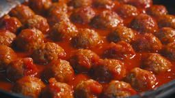 Grilled meatballs, little cutlets Close up ビデオ